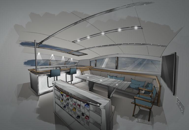 vitalia ii catamaran de course croisi re de fran ois bich refit orange ii. Black Bedroom Furniture Sets. Home Design Ideas